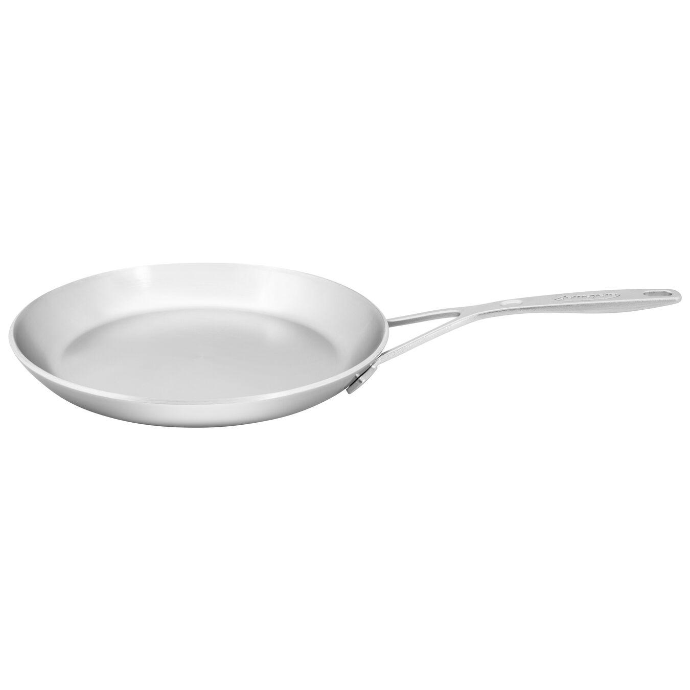 Crêpes-Pfanne 26 cm, 18/10 Edelstahl, Silber,,large 2