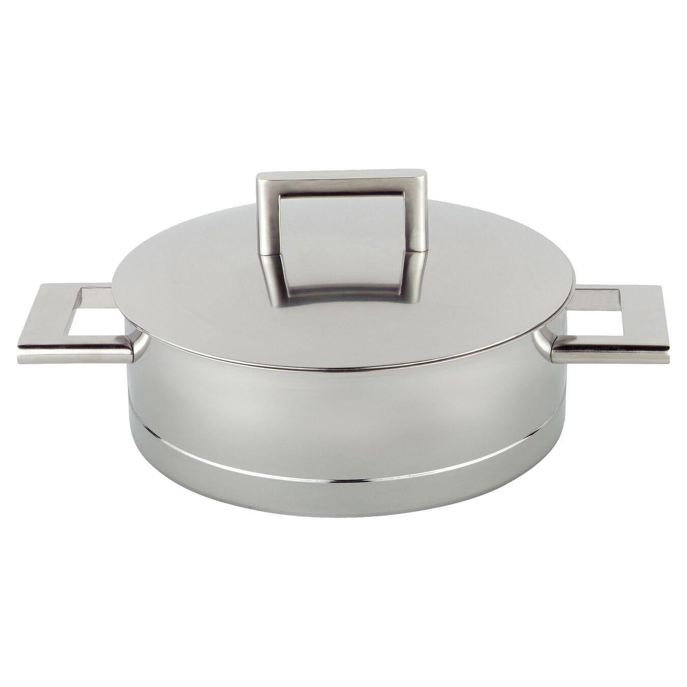 Sığ Tencere Kapaklı | 18/10 Paslanmaz Çelik | 4,75 l | Metalik Gri,,large 1