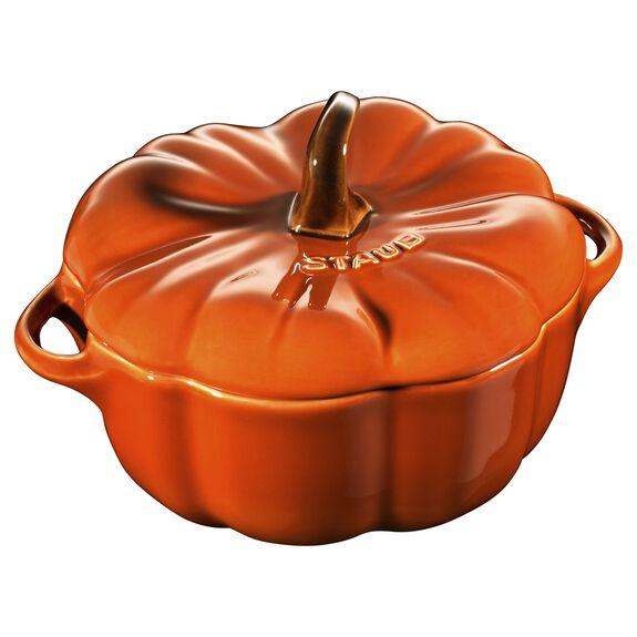 0.75-qt Pumpkin Cocotte, Burnt Orange,,large 2