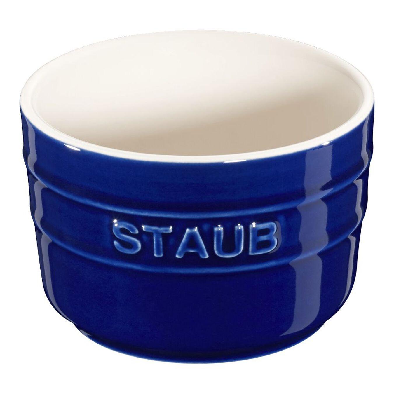 Sufle Kabı Seti, 2-parça | Koyu Mavi | Seramik | Yuvarlak | Seramik,,large 1