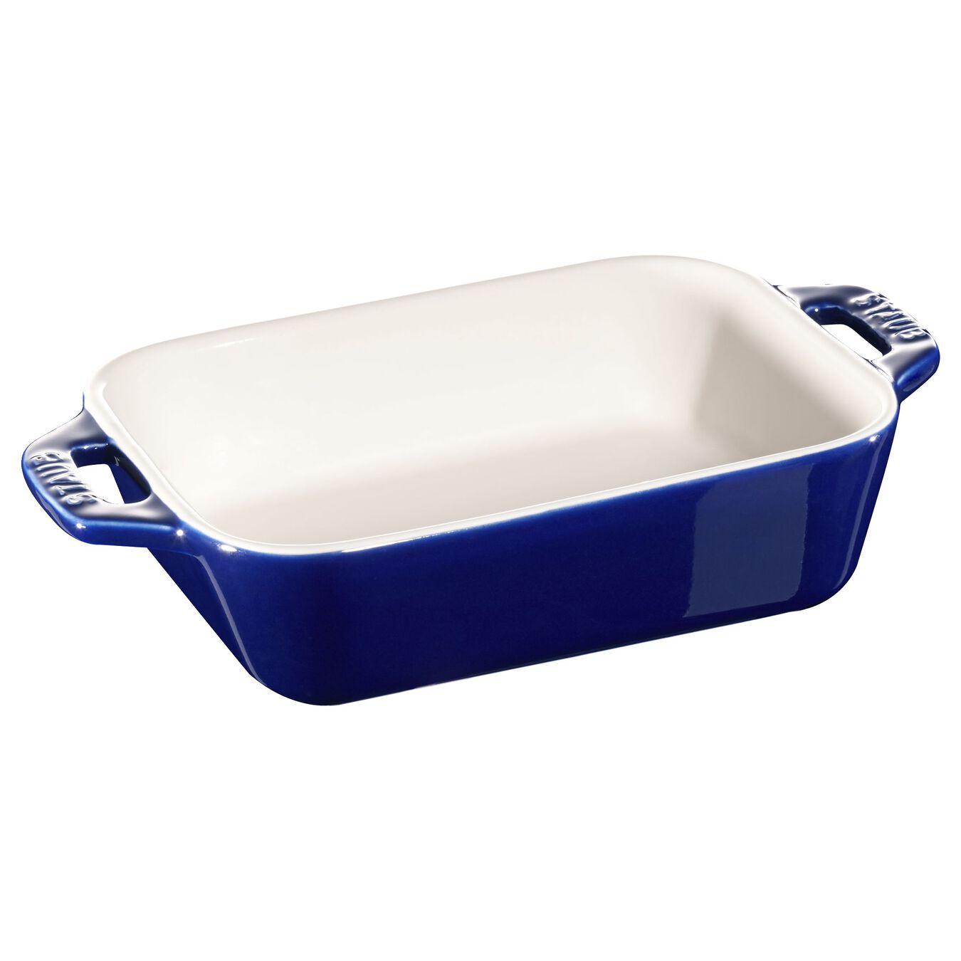 Ceramic rectangular Plat empilable, Dark-Blue,,large 1