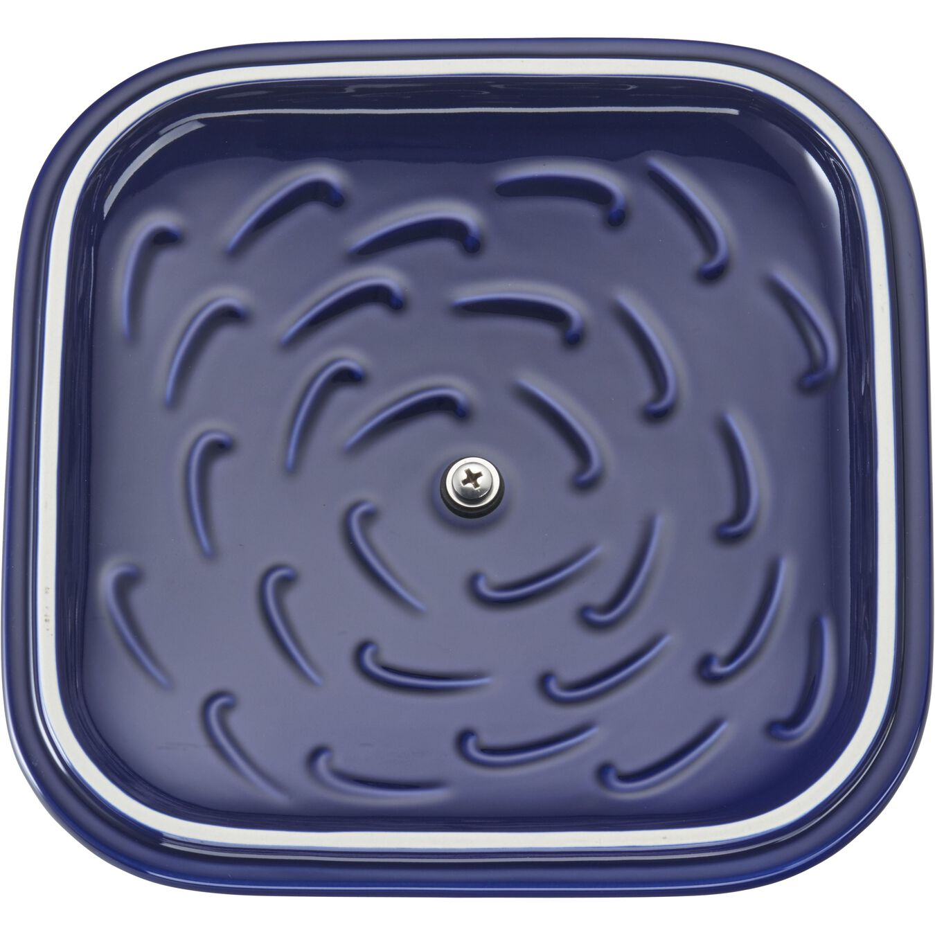 9-inch X 9-inch Square Covered Baking Dish - Dark Blue,,large 5