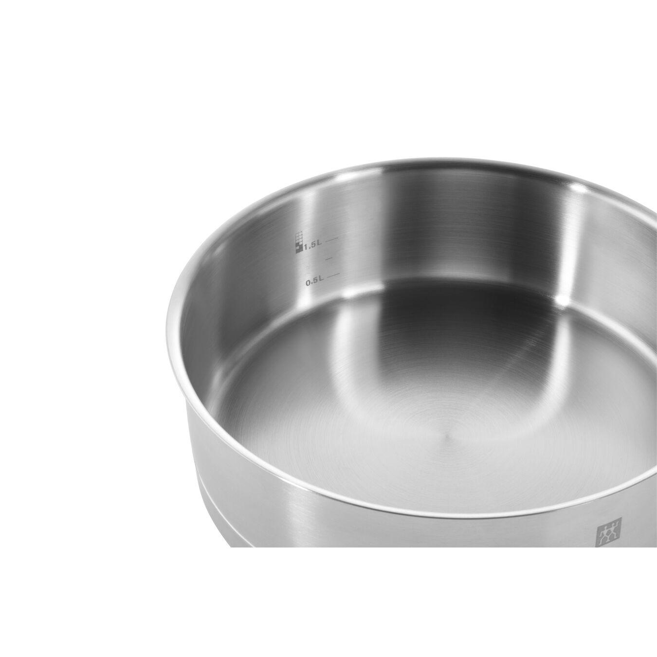 Paslamaz Çelik Uzun Saplı Tava , 24 cm | Yuvarlak | 18/10 Paslanmaz Çelik,,large 5