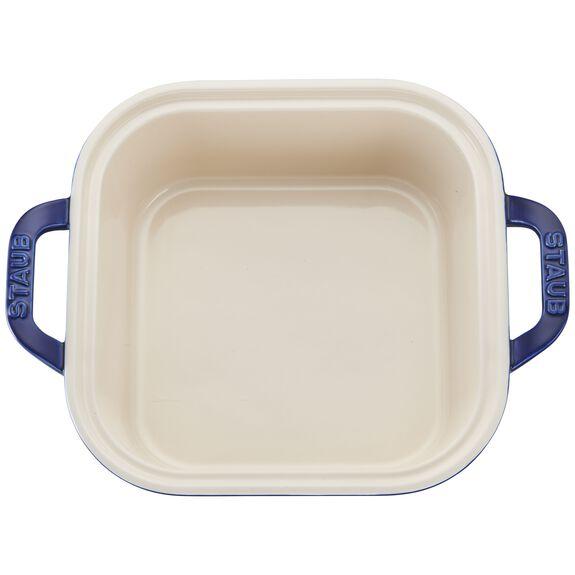 Ceramic Square Covered Baking Dish, Dark Blue,,large 2