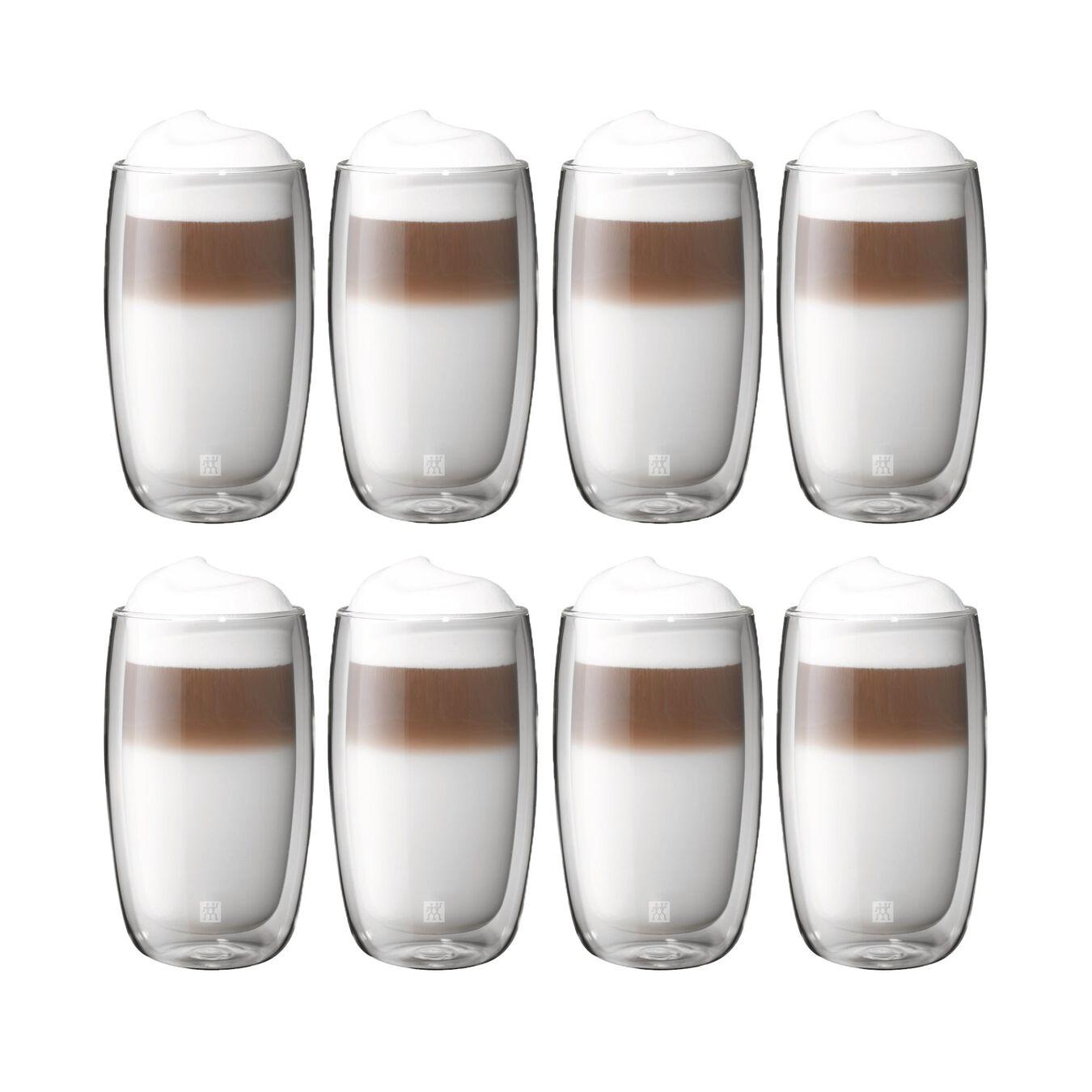 8 Piece Latte Glass Set - Value Pack,,large 1