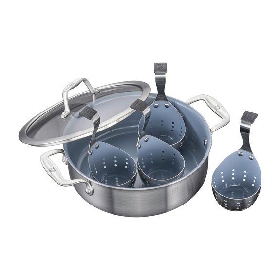 Ceramic Breakfast Pan & Egg Poacher Set,,large