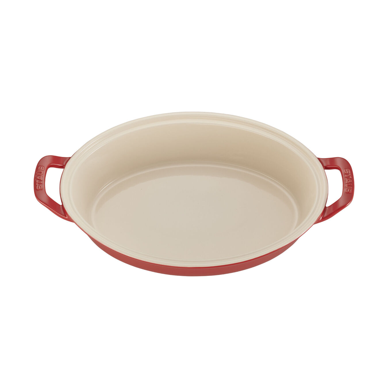 14-inch Oval Covered Baking Dish - Cherry,,large 2