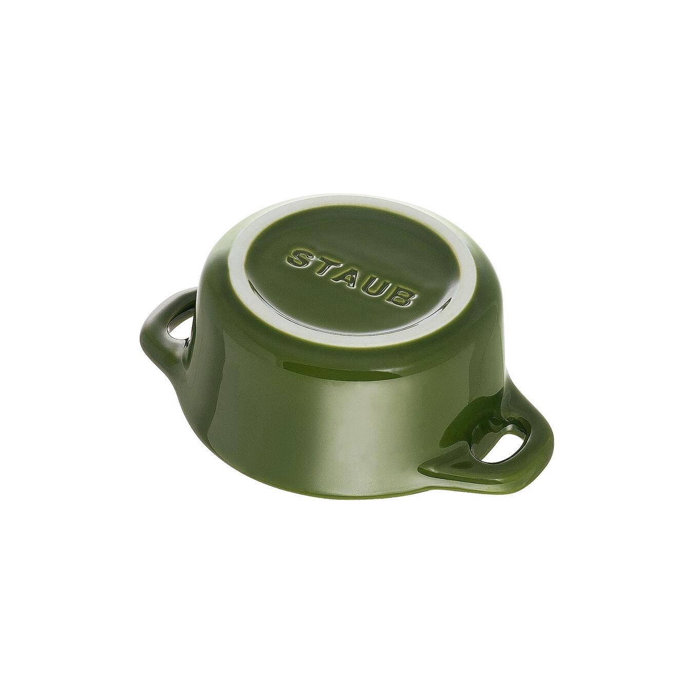 Mini Cocotte 10 cm, Rond(e), Basilic, Céramique,,large 5