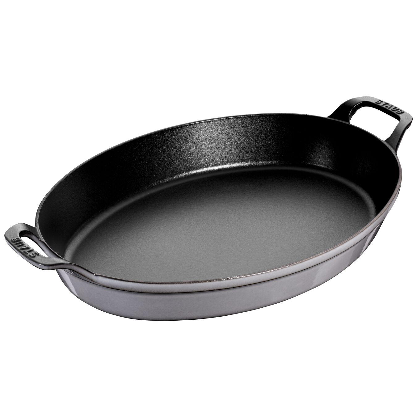 14.5-x 11.2-inch, oval, Baking Dish, graphite grey,,large 1