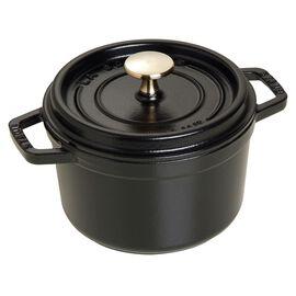 Staub Cast iron, 1.25-qt-/-16-cm round Cocotte, Black
