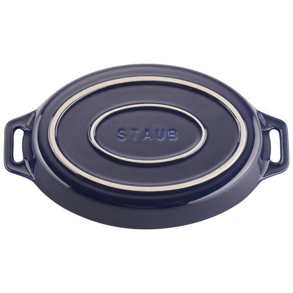 2-pc Oval Baking Dish Set, Dark Blue, , large 3