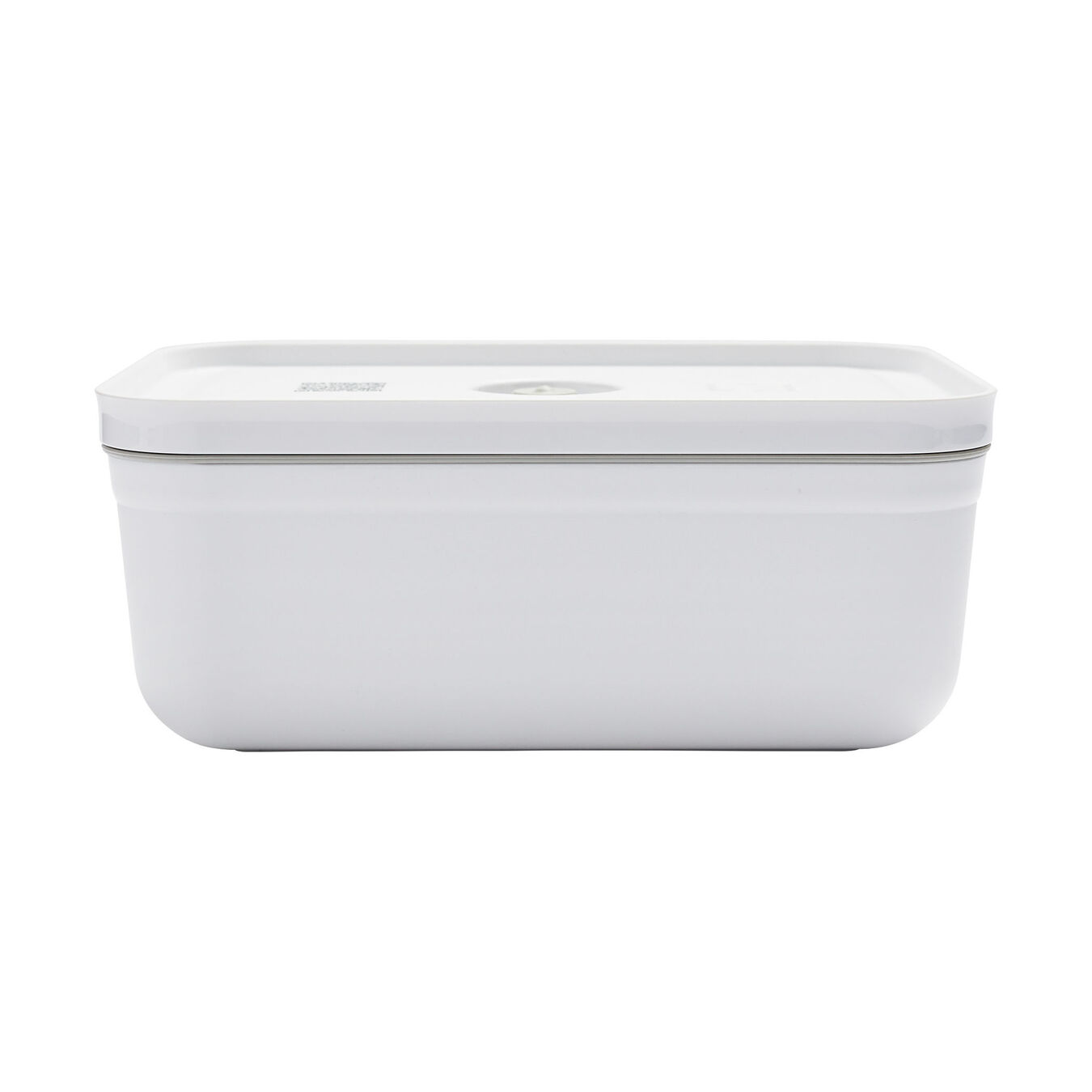 large Vacuum lunch box, plastic, white,,large 3