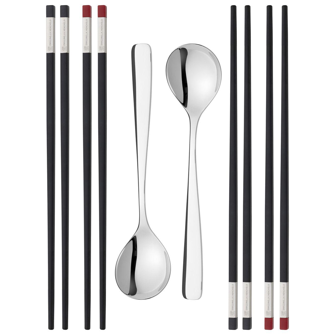 Chopstick Set 10-tlg, mattiert/poliert,,large 1