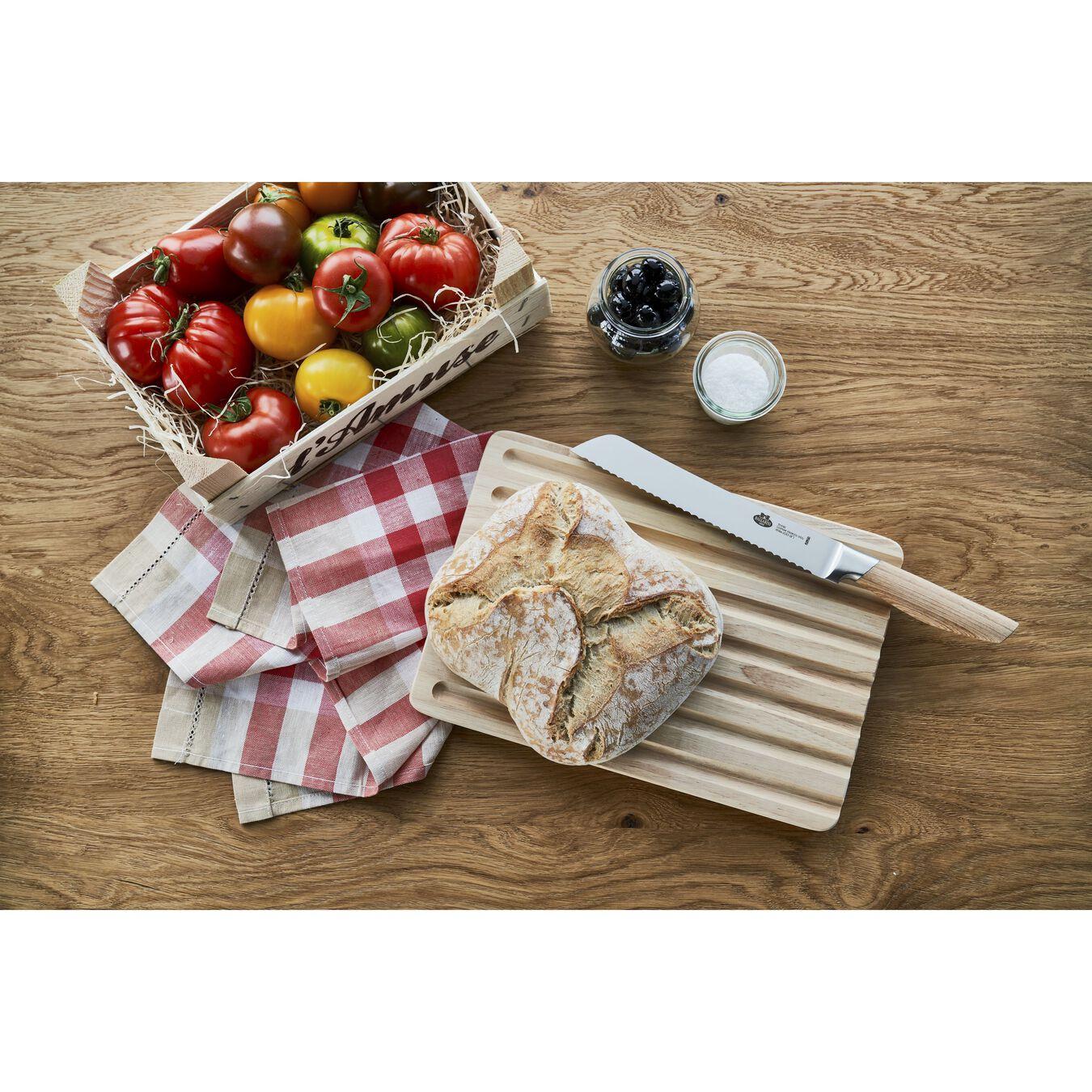 Coltello da pane seghettato - 20 cm, saldato, naturale,,large 2