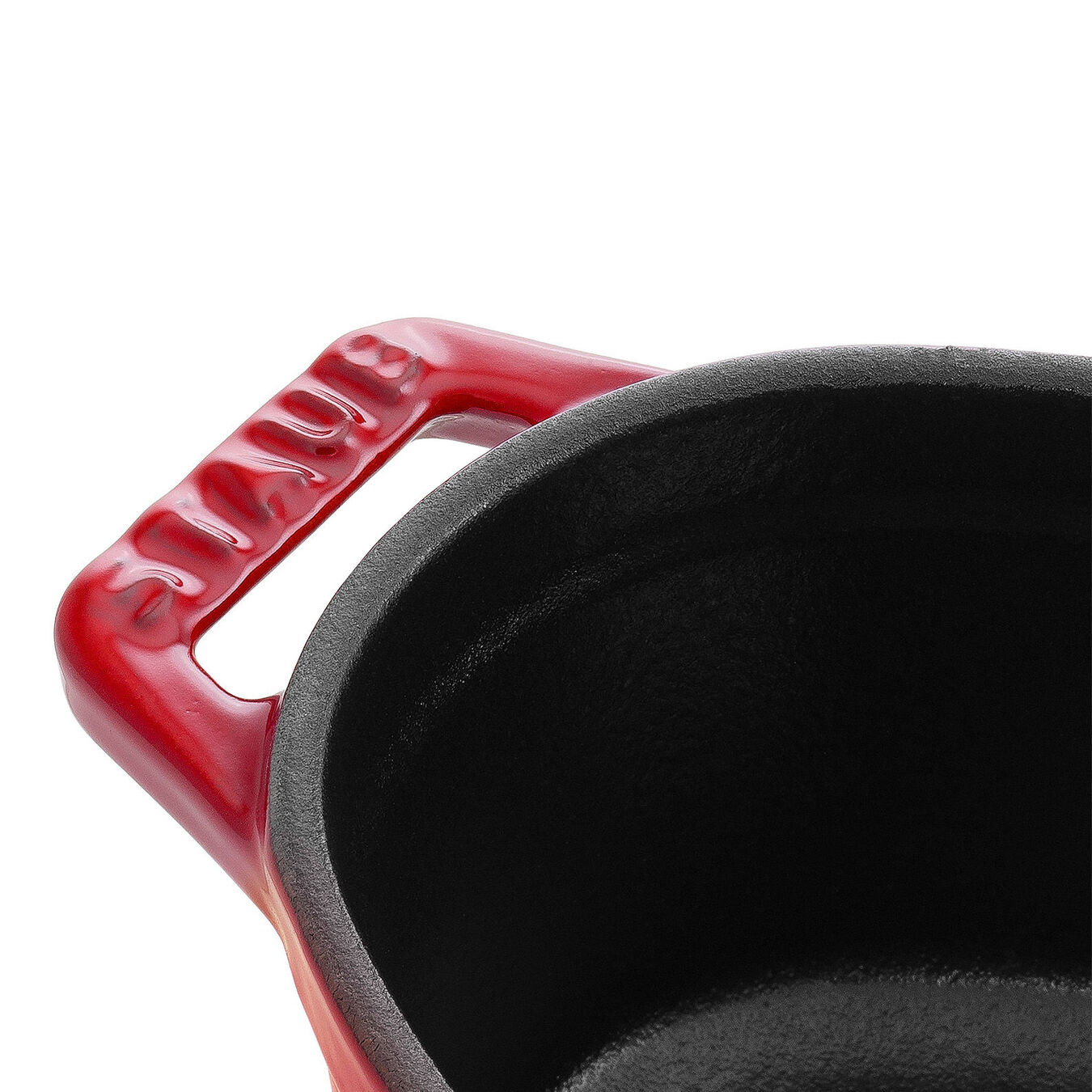 250 ml Cast iron oval Mini Cocotte, Cherry,,large 3