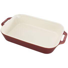 Staub Ceramics, 13-inch x 9-inch Rectangular Baking Dish - Rustic Red
