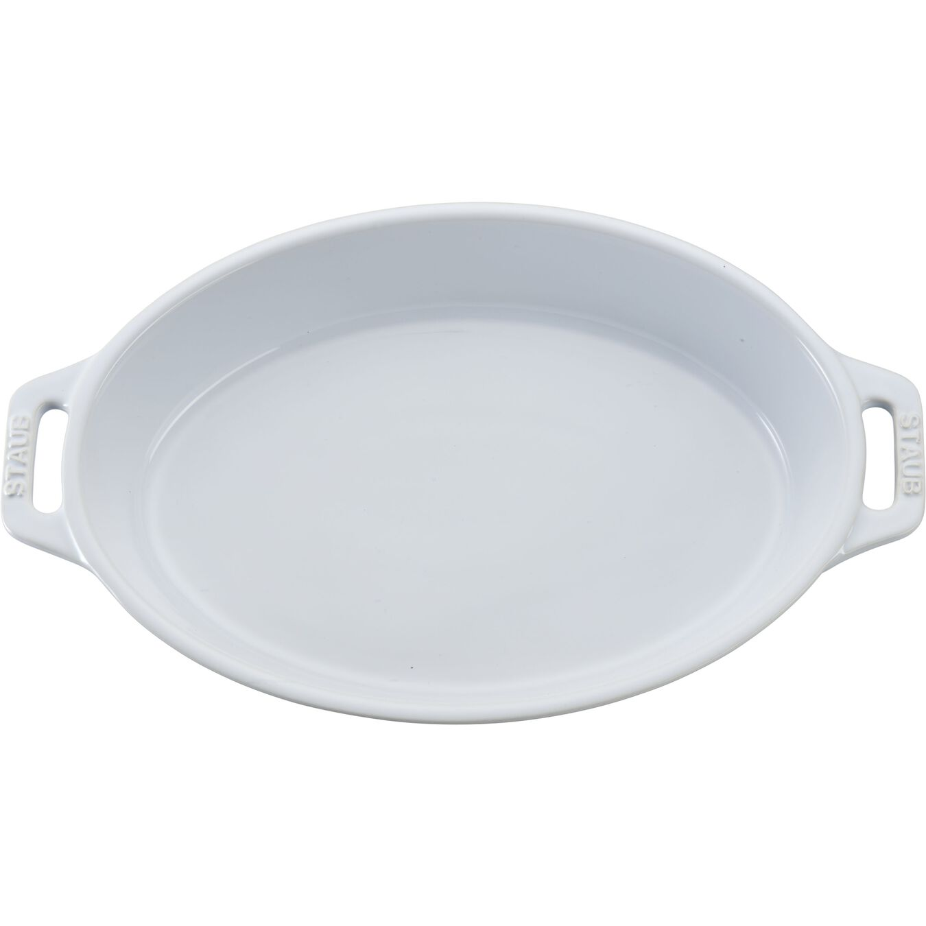 9-inch, oval, Baking Dish, white,,large 3
