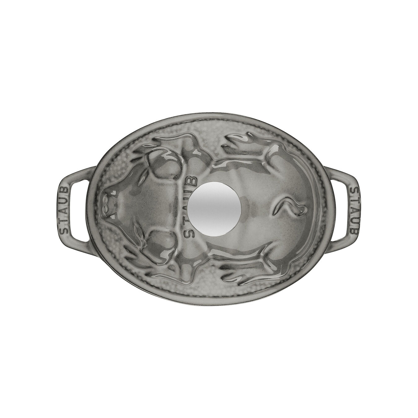 Caçarola 17 cm, oval, Cinza grafite, Ferro fundido,,large 3