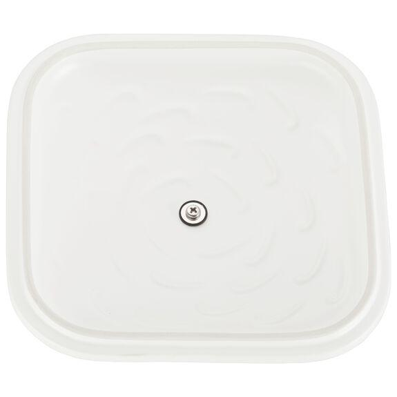 Ceramic Square Covered Baking Dish, Matte White,,large 5