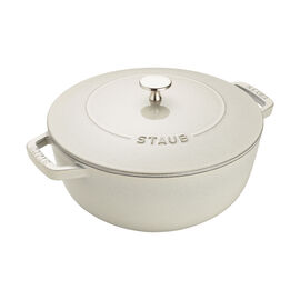 Staub Cast iron, 3.75-qt Essential French Oven - White Truffle