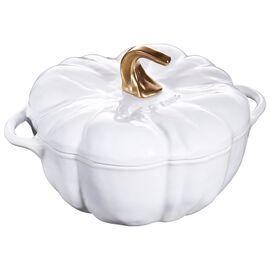 Staub Cast Iron, 3.65-qt Pumpkin Cocotte, White