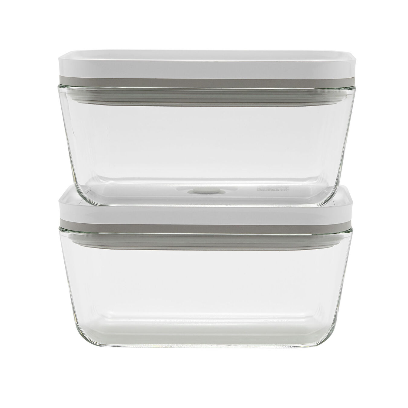 2-pc Vacuum box set, Borosilicate glass, white,,large 1