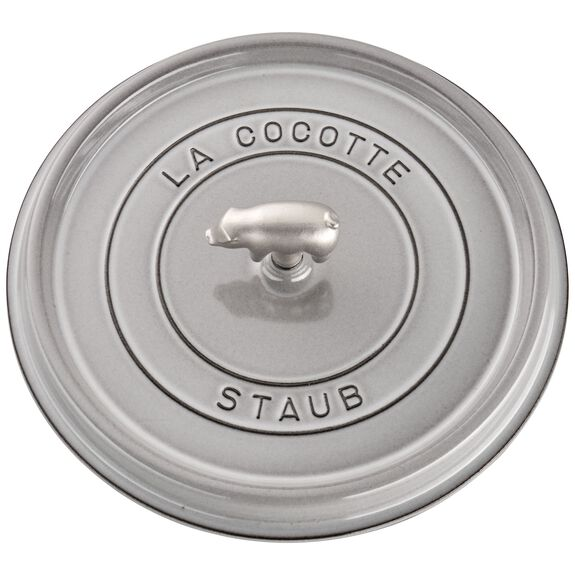 6-qt round Cocotte, Graphite Grey,,large 4