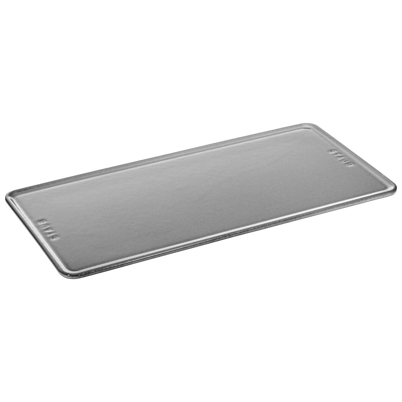 Piatto da servizio quadrato - 30 cm x 15 cm, grigio grafite,,large 1
