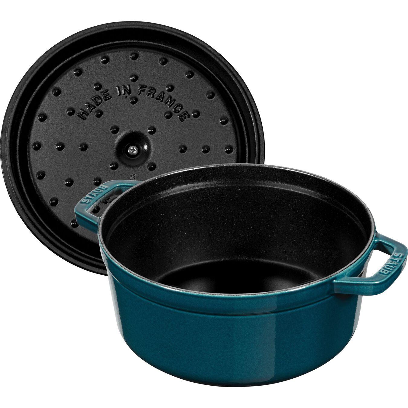 Cocotte en fonte 24 cm / 3,8 l, Rond, Blue La-Mer,,large 1