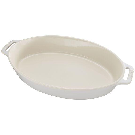 "9"" Oval Baking Dish, Rustic Ivory, , large"