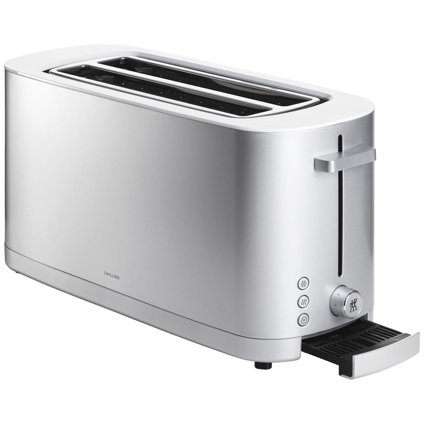 Toaster mit Brötchenaufsatz, 2 Schlitze lang, Silber,,large 3