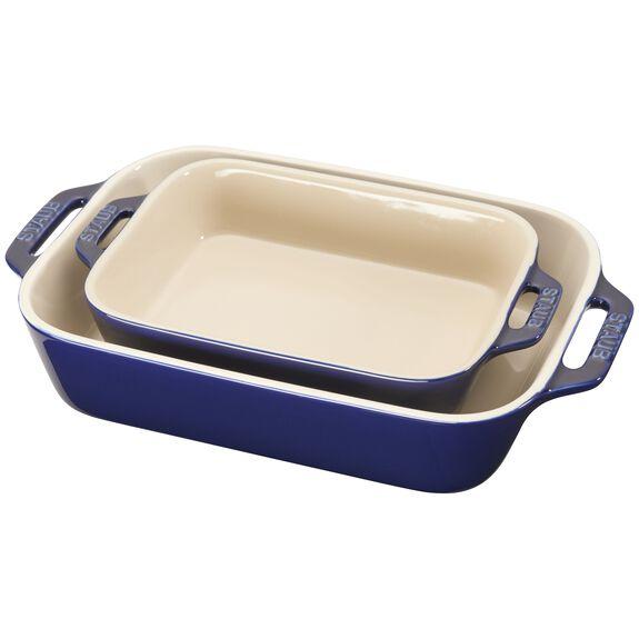 2-pc Rectangular Baking Dish Set - Dark Blue,,large