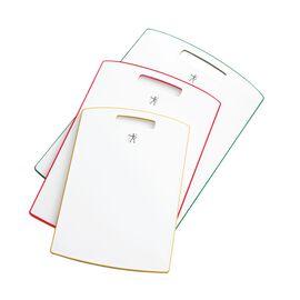 Cutting board set, 3 Piece   Plastic   pure-white