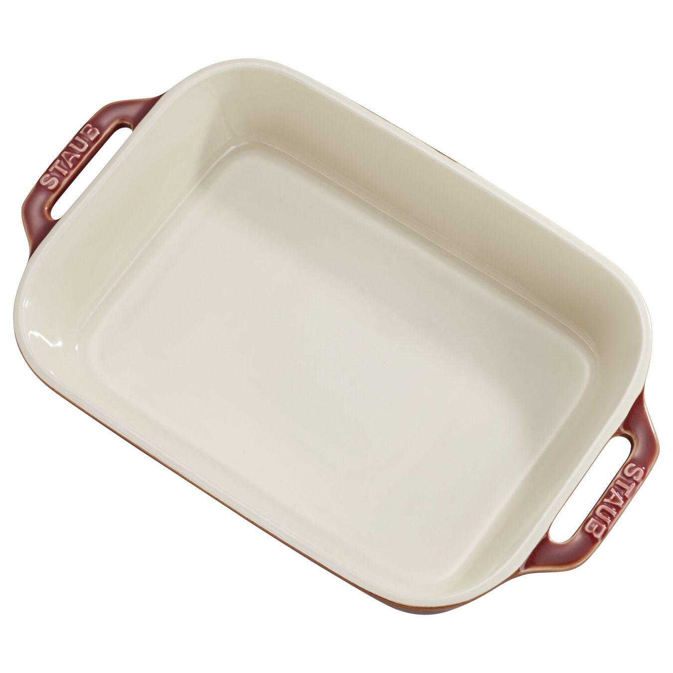 2-pc, rectangular, Baking Dish Set, rustic red,,large 1