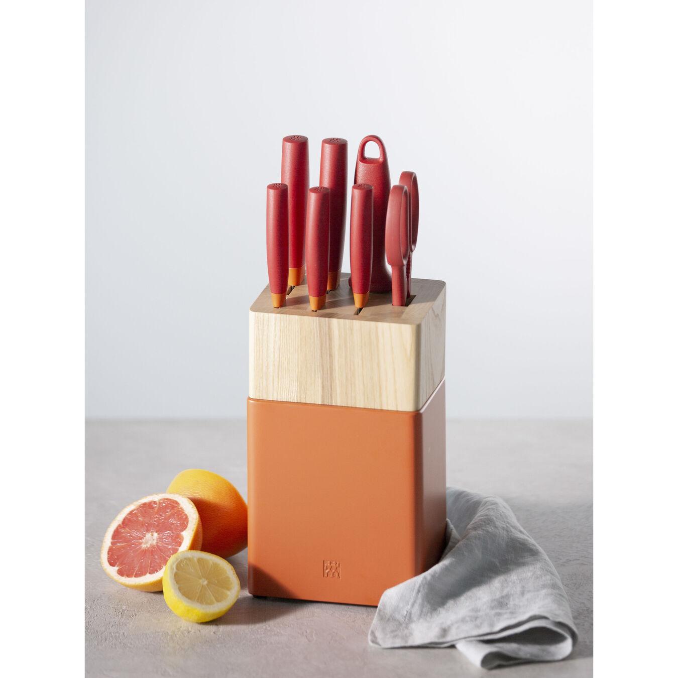 8-pc, Knife block set, orange,,large 3