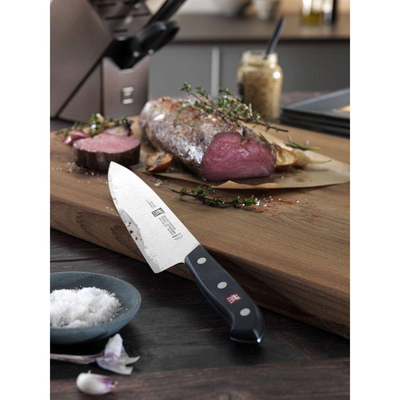 7 Piece KNIFE BLOCK SET WITH BONUS CARVING SET,,large 3