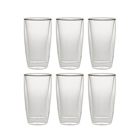 Henckels International Cafe Roma, 6 Piece Double-Wall Beverage Glass Set
