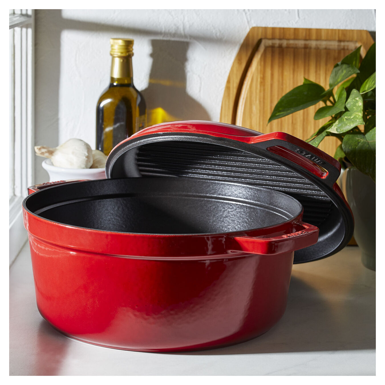 6 l round Braise + Grill, cherry - Visual Imperfections,,large 10