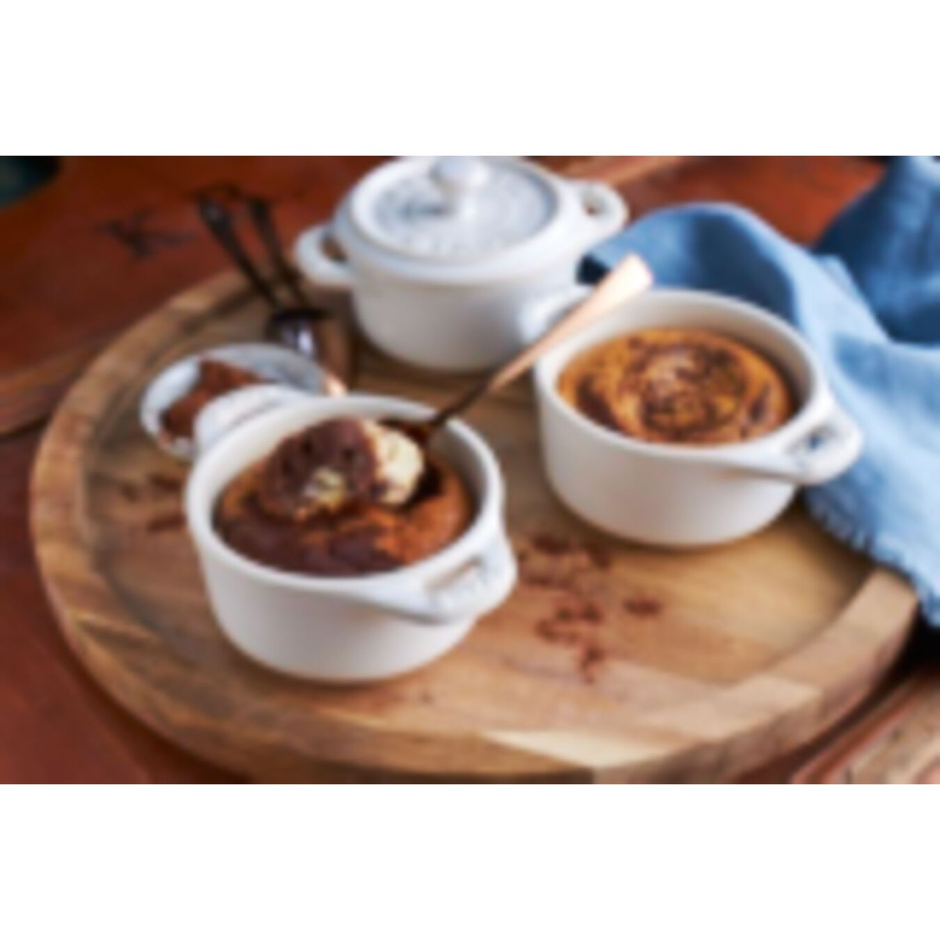 3-pc Mini Round Cocotte Set - White,,large 2