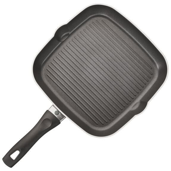 "11"" Forged Aluminum Nonstick Grill Pan, , large"