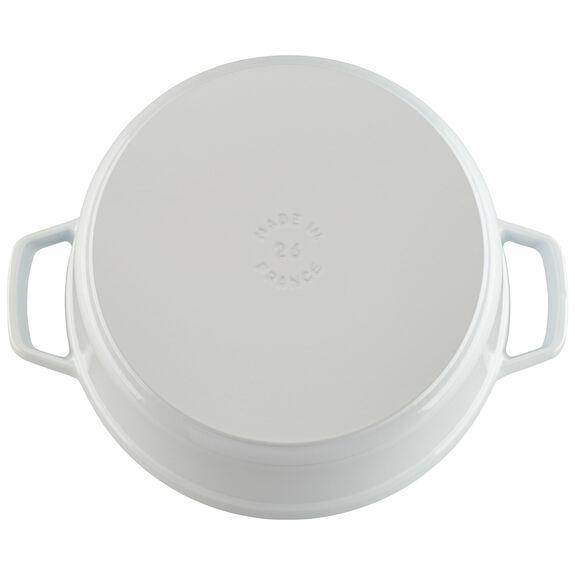 5.5-qt round Cocotte, White,,large
