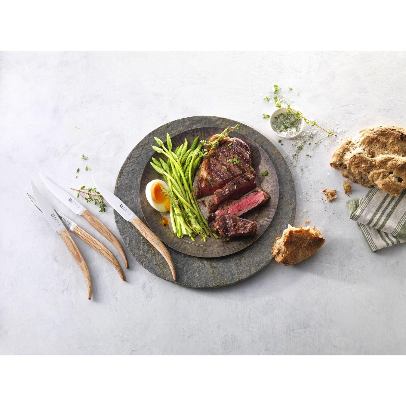 Biftek Bıçağı Seti | Meşe Ağacı | 4-parça,,large 3