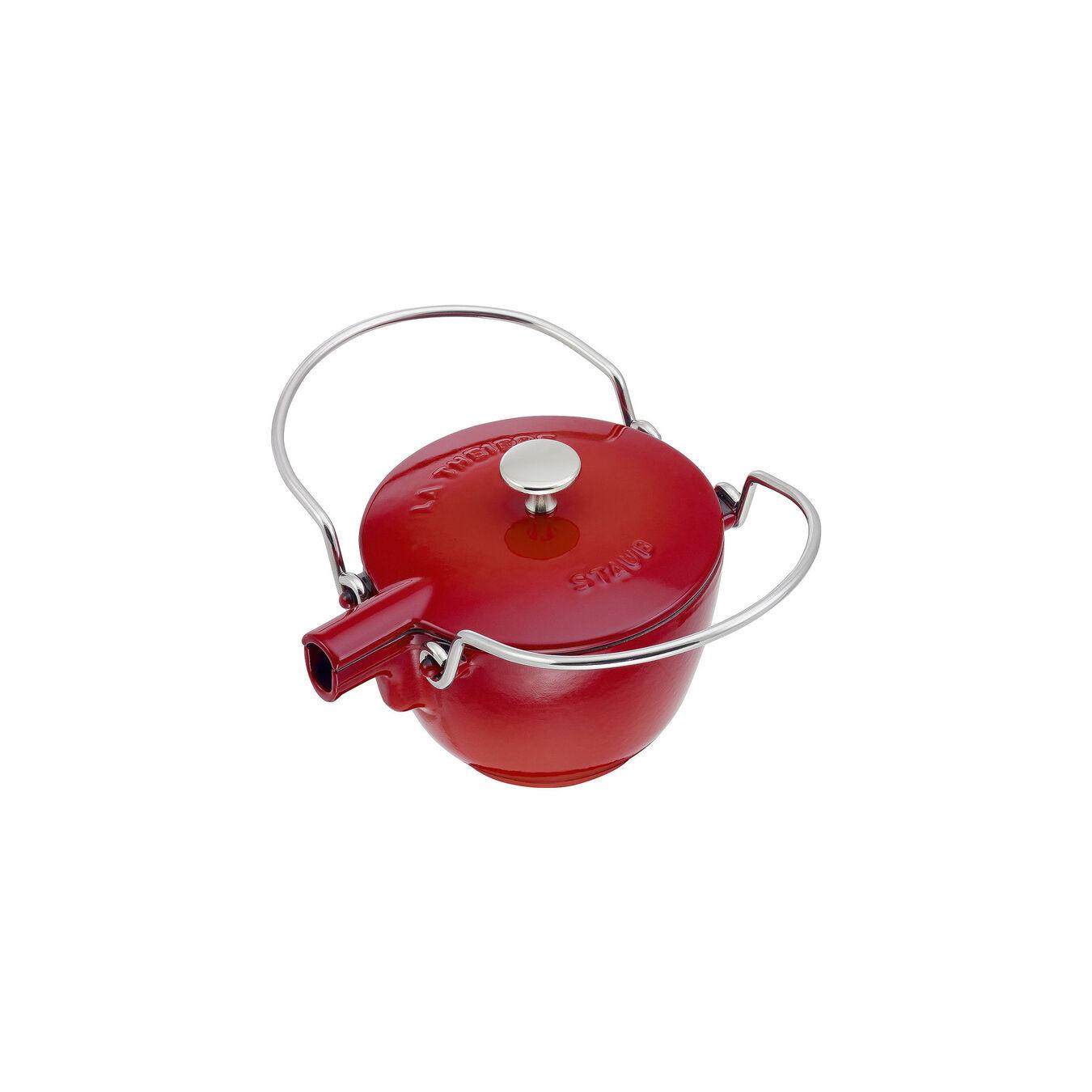 1.25 qt, round, Tea pot, cherry,,large 5