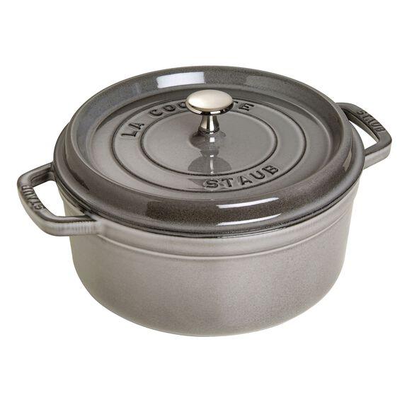 4-qt round Cocotte, Graphite Grey,,large 3