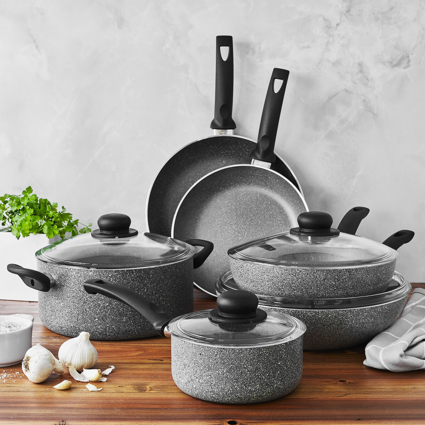 10 Piece Aluminum Cookware set,,large 8