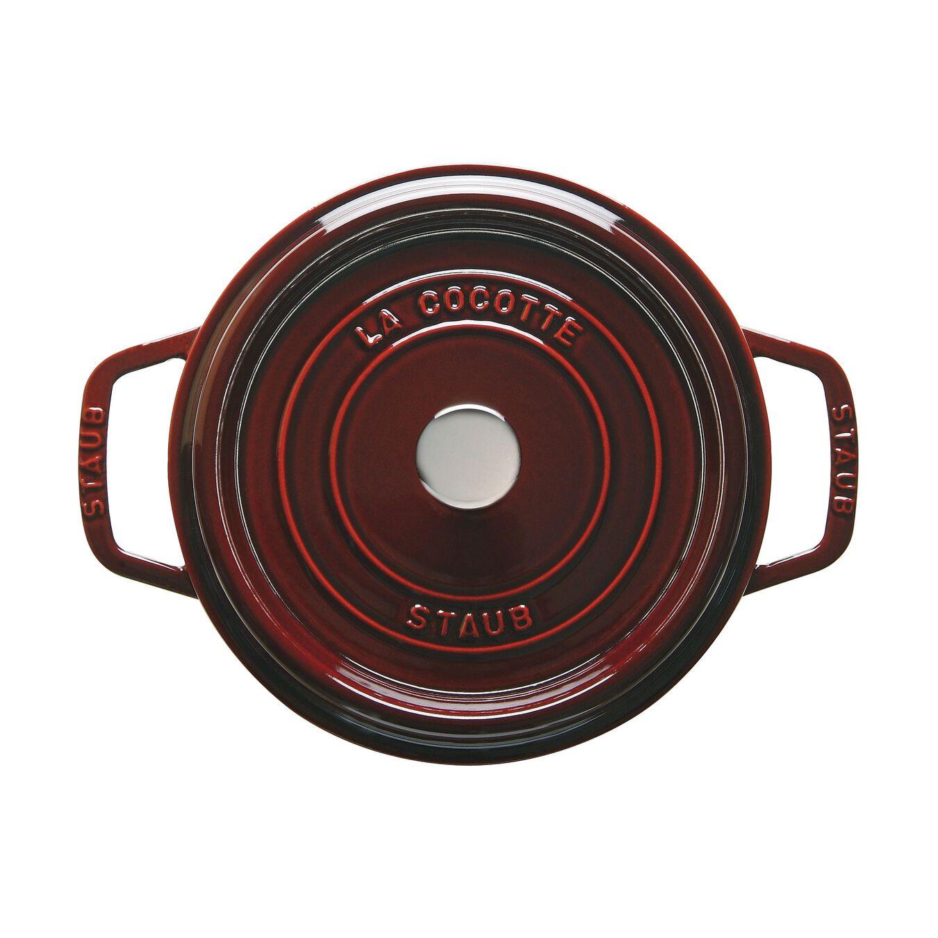 Döküm Tencere | Bordo | 20 cm | 2,25 l | yuvarlak,,large 2