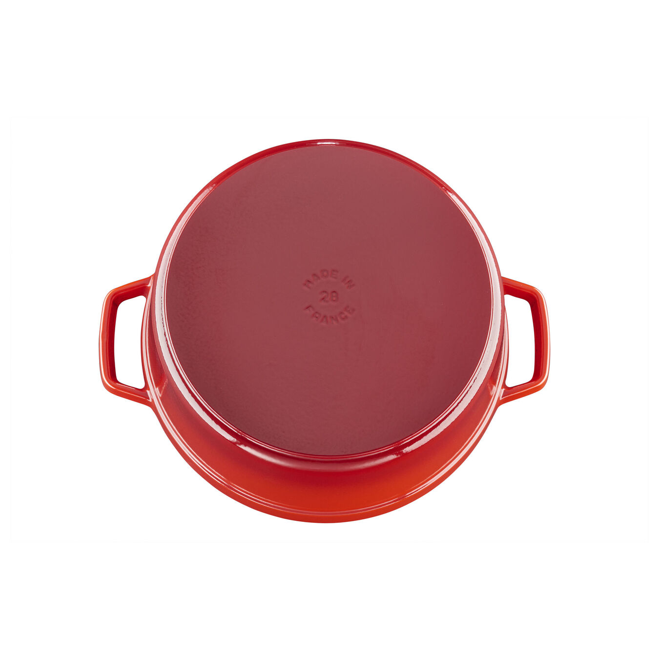 6.5 qt, round, Cocotte, cherry - Visual Imperfections,,large 2