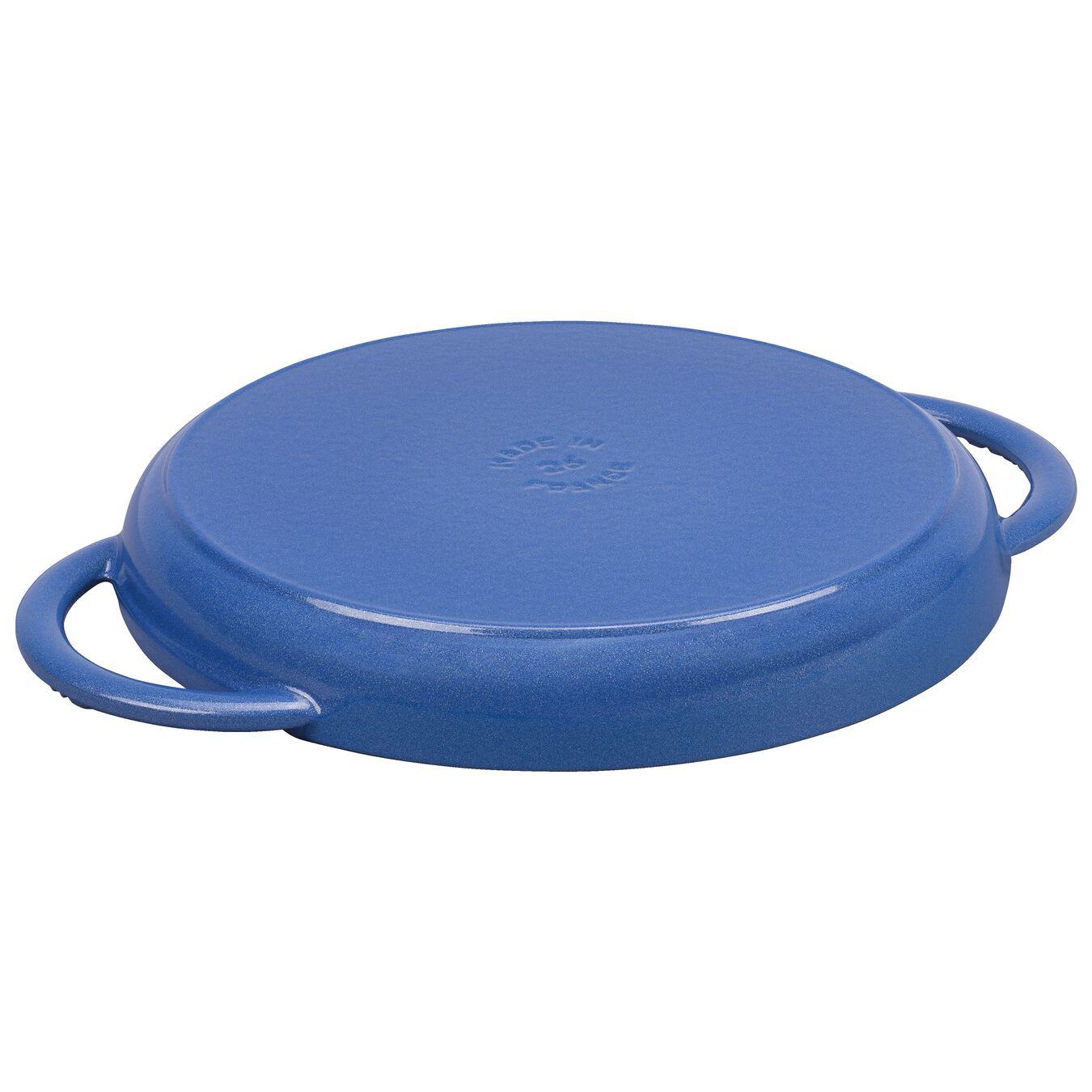 round, Grill pan, Metallic Blue,,large 2