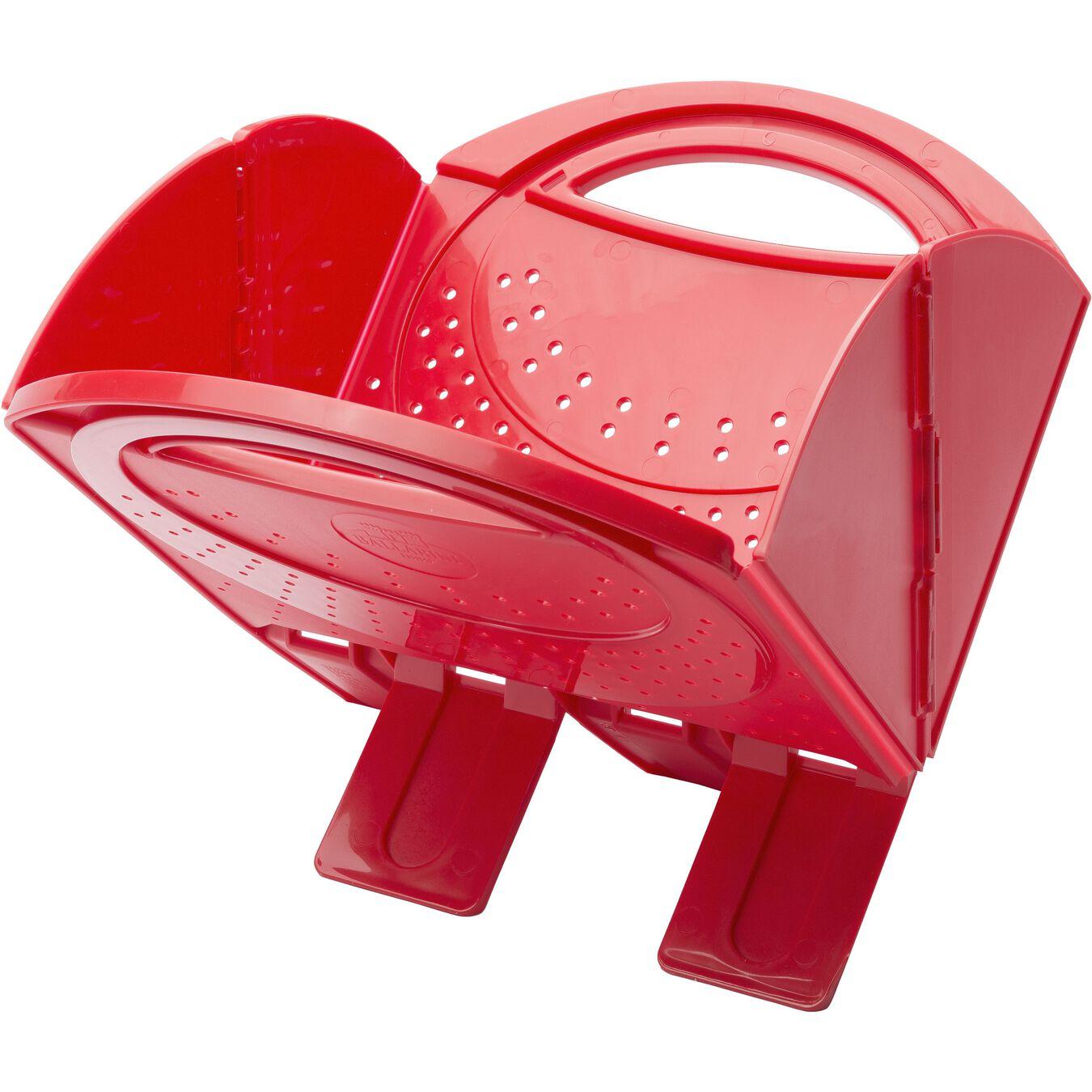 Foldable Colander - Red, plastic ,,large 1