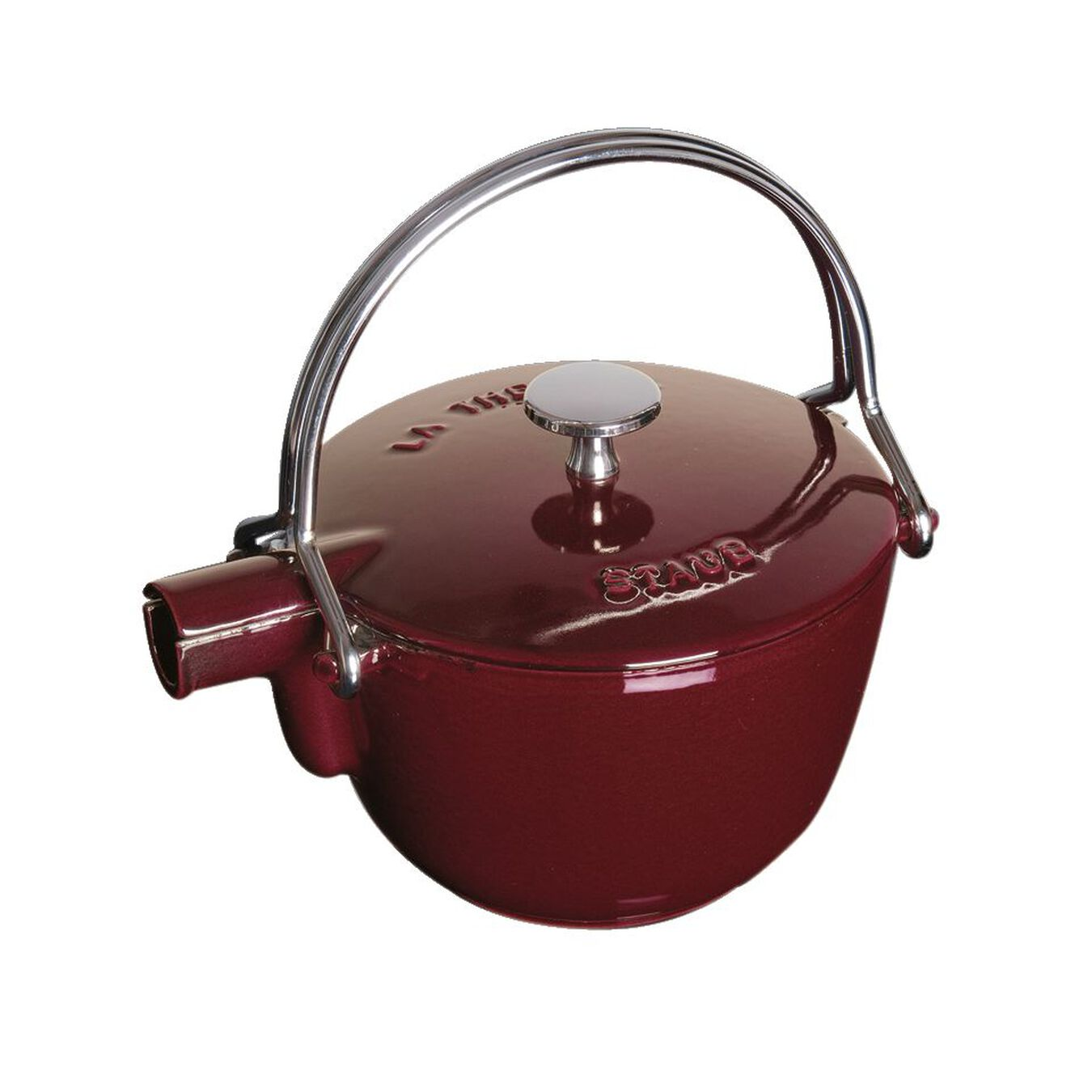 1.25 l Cast iron Tea pot, Grenadine-Red,,large 5
